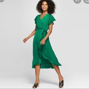 NWT WHO WHAT WEAR Green Dress